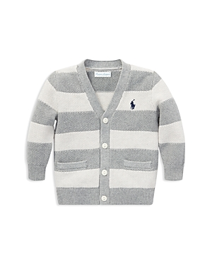 Ralph Lauren Boys Striped Cotton VNeck Cardigan  Baby