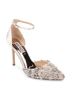 Badgley Mischka - Women's Fey Embellished Satin Pumps
