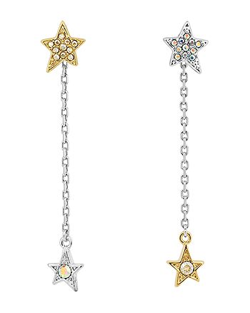 KARL LAGERFELD PARIS - Star & Chain Drop Earrings