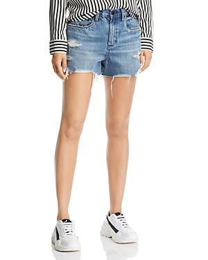 Blanknyc Rigid Distressed Denim Shorts in Top Notch