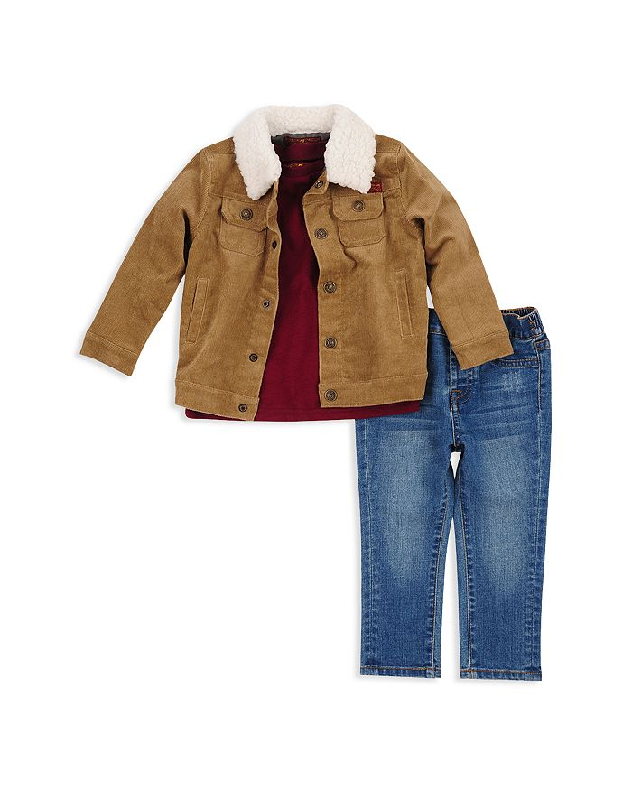 7 For All Mankind - Boys' Corduroy Jacket, Tee & Jeans Set - Little Kid