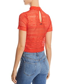 GUESS - Adelaide Lace Cropped Top