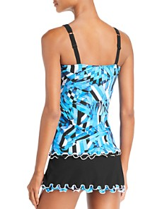 Profile by Gottex - Tidal Wave D Cup Tankini Top & Skirted Bikini Bottom