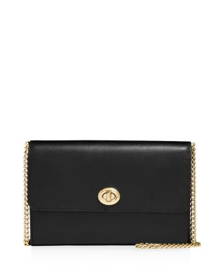 Small Turn Lock Leather Crossbody by Coach