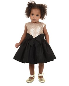 Pippa & Julie - Girls' Sequin Contrast Bow Dress - Baby