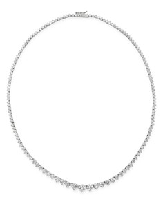 Bloomingdale's - Diamond Graduated Tennis Necklace in 14K White Gold, 15.0 ct. t.w. - 100% Exclusive