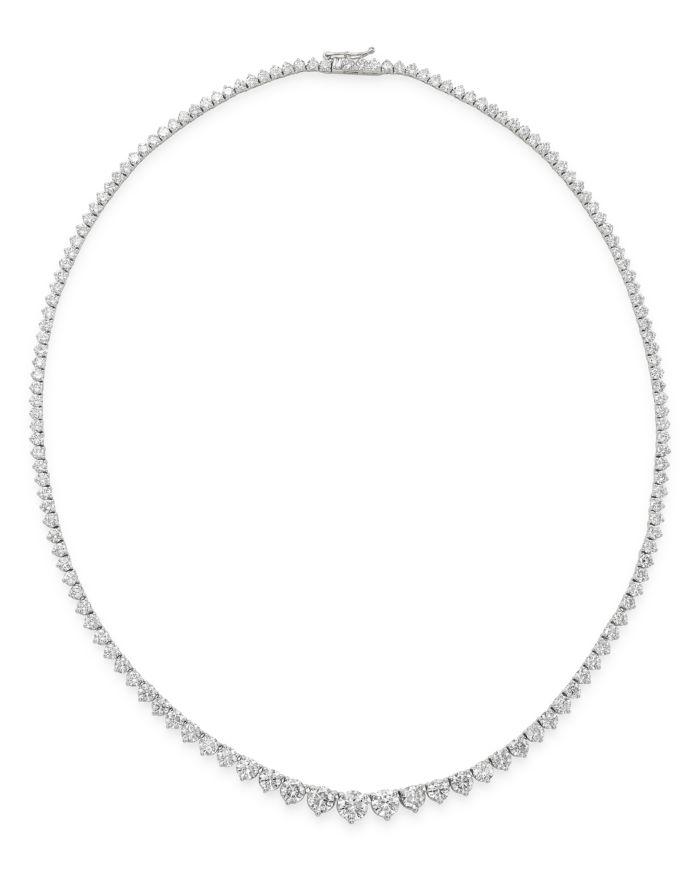 Bloomingdale's Bloomingdale's Diamond Graduated Tennis Necklace in 14K White Gold, 15.0 ct. t.w. - 100% Exclusive  | Bloomingdale's