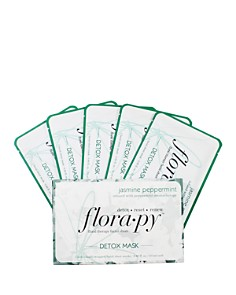 Space NK - Jasmine Peppermint Detox Floral Therapy Sheet Masks, Set of 5