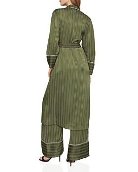BCBGMAXAZRIA - Striped Satin Robe Jacket