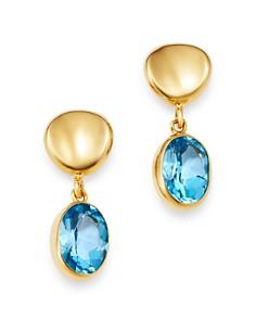 Bloomingdale's - Gemstone Oval Drop Earrings in 14K Yellow Gold