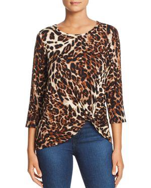 Leopard-Print Twist-Front Top