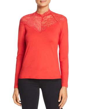 Vero Moda Lua Lace-Neck Top