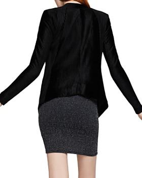 BCBGeneration - Open-Front Pintuck Velvet Blazer