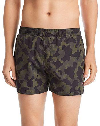 7be2dcee25 HUGO Grenada Camouflage-Print Swim Shorts | Bloomingdale's