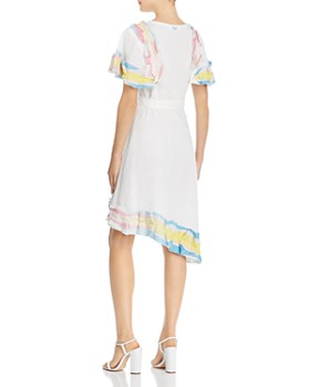 A Mere Co. - Rainbow Ruffle Wrap Dress