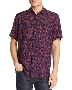 Just Cavalli - Cheetah-Print Short-Sleeve Regular Fit Shirt