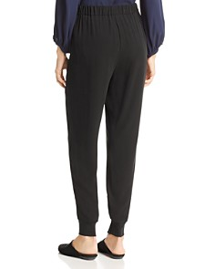 Eileen Fisher Petites - Pleated Silk Jogger Pants