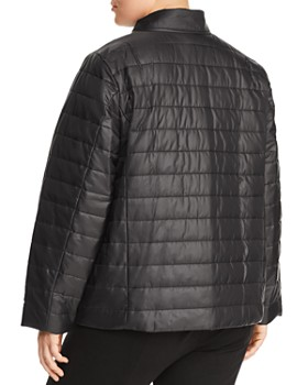 Eileen Fisher Plus - Stand Collar Puffer Jacket