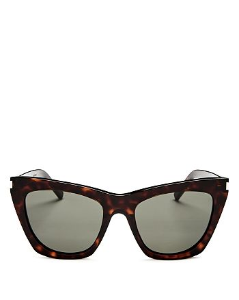 Saint Laurent - Women's Cat Eye Sunglasses, 57mm