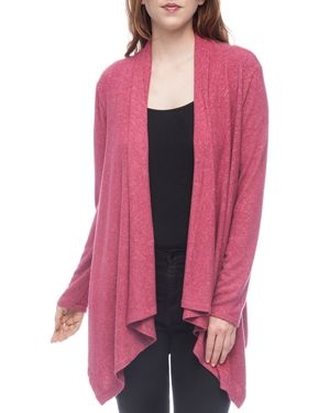 B COLLECTION BY BOBEAU B Collection By Bobeau Amie Waterfall Cardigan in Dry Rose
