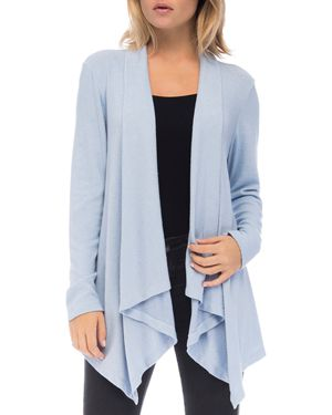 B COLLECTION BY BOBEAU B Collection By Bobeau Amie Waterfall Cardigan in Brunerra Blue