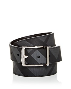 Burberry - Clark Vintage Check Reversible Coated Leather Belt