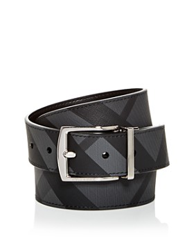 3729c2f95 Burberry - Men s Clark Vintage Check Reversible Coated Leather Belt ...