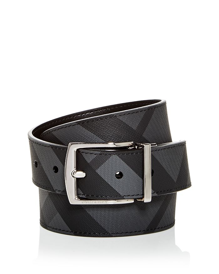 Burberry - Clark Vintage Check Reversible Coated Leather Belt