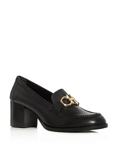 Salvatore Ferragamo - Women's Rolo Moc-Toe Block-Heel Loafers