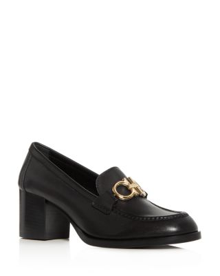 Women's Rolo Moc Toe Block Heel Loafers by Salvatore Ferragamo