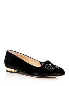 Charlotte Olympia - Women's Peaceful Kitty Flats