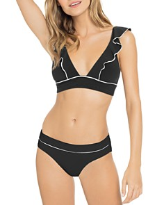 Robin Piccone - Malia Ruffle-Trim Bikini Top & Banded Bikini Bottom