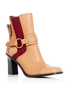 See by Chloé - Women's Alexis High-Heel Ankle Booties