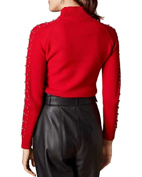 KAREN MILLEN - Embellished-Sleeve Sweater