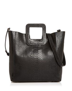 TMRW STUDIO Antonio Medium Python Leather Tote in Black/Gold