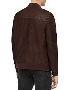 ALLSAINTS - Kino Leather Regular Fit Bomber Jacket