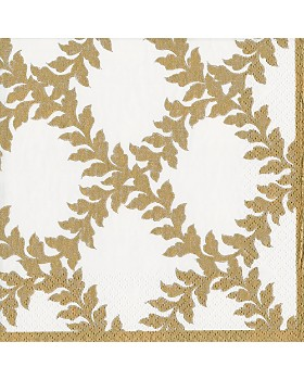 Caspari - Acanthus Trellis Paper Cocktail Napkins, Set of 20