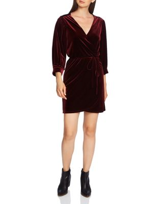 Velvet Wrap Dress by 1.State