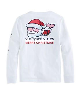 Vineyard Vines - Boys' Santa Long-Sleeve Cotton Tee - Little Kid, Big Kid