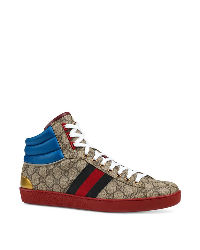 ab9bf4a4d2de4 Gucci Men's Ace GG Supreme High-Top Sneakers | Bloomingdale's