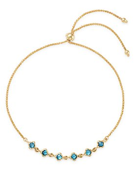 Bloomingdale's - Gemstone Mini Clover Bolo Bracelet in 14K Yellow Gold