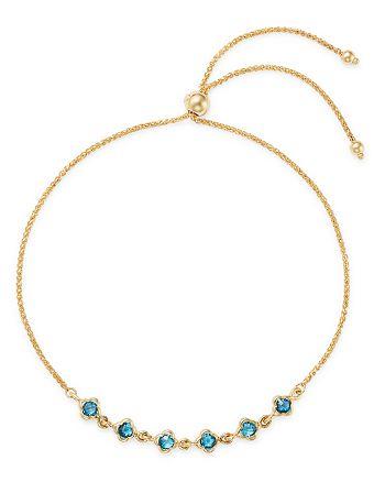 Bloomingdale's - London Blue Topaz Mini Clover Bolo Bracelet in 14K Yellow Gold - 100% Exclusive