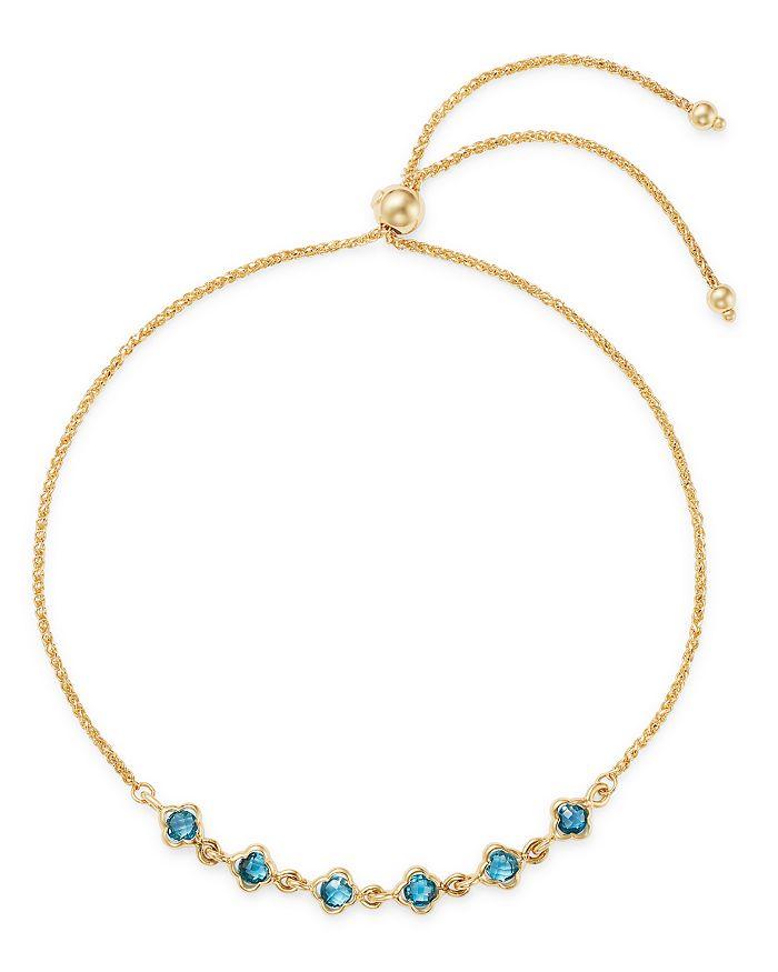 Bloomingdale's - Gemstone Mini Clover Bolo Bracelet in 14K Yellow Gold