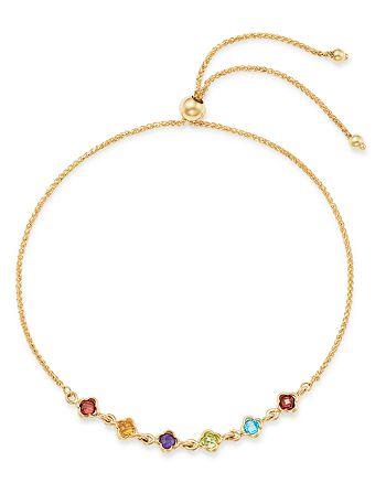 Bloomingdale's - Multi-Gemstone Mini Clover Bolo Bracelet in 14K Yellow Gold - 100% Exclusive