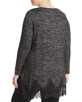 Seven7 Jeans Plus - Mélange Lace Hem Top