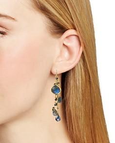 Ela Rae - Multi-Chain Drop Earrings in 14K Gold-Plated Sterling Silver
