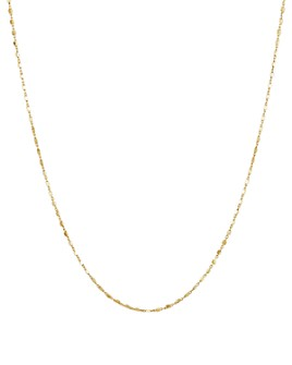 """Argento Vivo - Dainty-Bar Necklace in 14K Gold-Plated Sterling Silver, 18"""""""