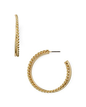 AQUA - Twist Hoop Earrings - 100% Exclusive
