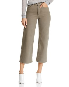 Hudson - Holly Crop Wide-Leg Jeans in Desert Sage