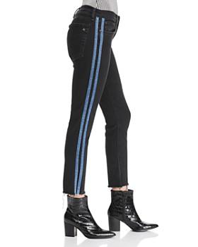 rag & bone/JEAN - Dre Track Stripe Ankle Slim Boyfriend Jeans in Stone Black